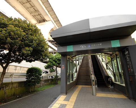 Station entrance area